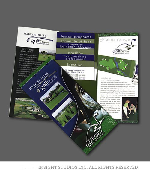 Harvest Hills Golf brochure