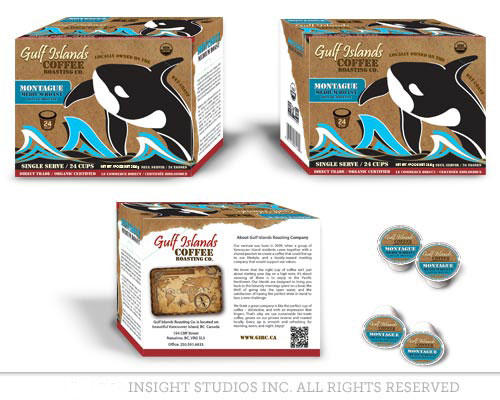 custom single serve coffee pod and box design